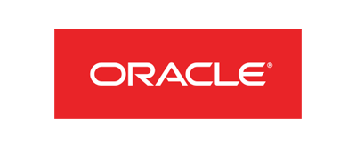 Oracle Logo - Red rectangle with white sans-serif type inside